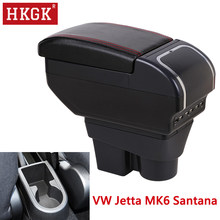 Armrest For Volkswagen VW Jetta MK6 6 Santana Dual Layer Rotatable Central Store Content box Ashtray Car interior accessories(China)