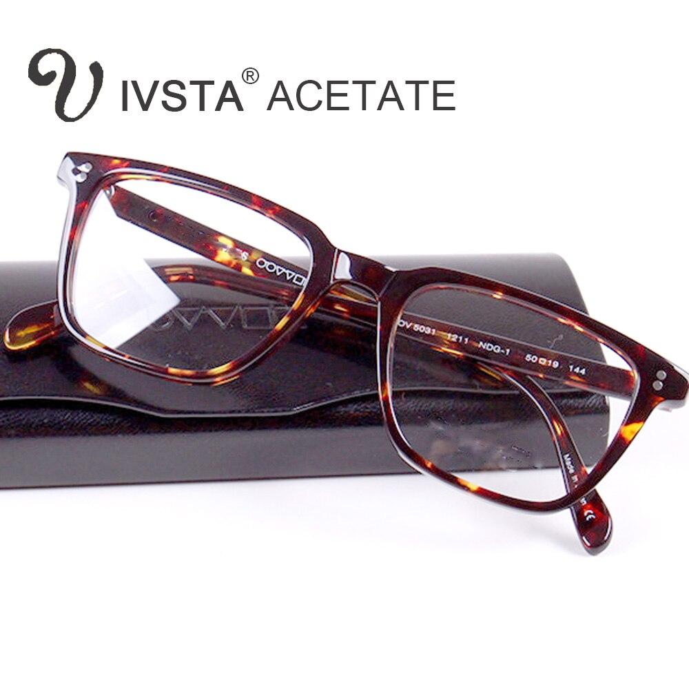 IVSTA pueblos Oliver Real acetato gafas marcos ópticos de las lentes ...