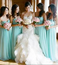 Mint Green 2017 A-line Sweetheart Chiffon Pleated Long Bridesmaid Dresses Cheap Under 50 Wedding Party Dresses