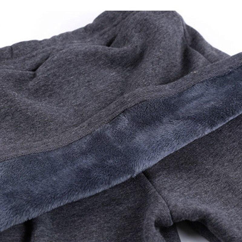 Hinzufügen Fleece Dame Hosen Warm Plus Größe S-4XL Rock + Lange Hosen Frauen Schwarz Winter Leggings