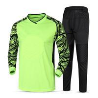 Training Football Soccer Goalkeeper Jersey 2016 2017 Goalie Sponge Protector Suit Goal Keeper Uniforms Maillot De