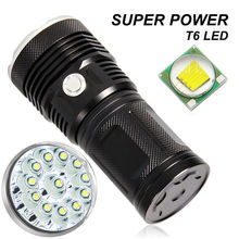 T6 Lampe Torche High Power Rechargeable Tactical Led Flash Light 18650 Powerful Rechargeable Led Torch for Camping Hunting