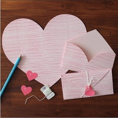 Collapsible Type Can Love Valentines Day Love Letter Envelopes