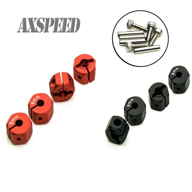 4 stks 8mm/9mm/10mm/11mm/12mm Dikte Hex 12mm aluminium Wiel Hex Drive Adapters en Pins Lichtmetalen Metalen Voor 1:10 RC Auto Wielen Velg