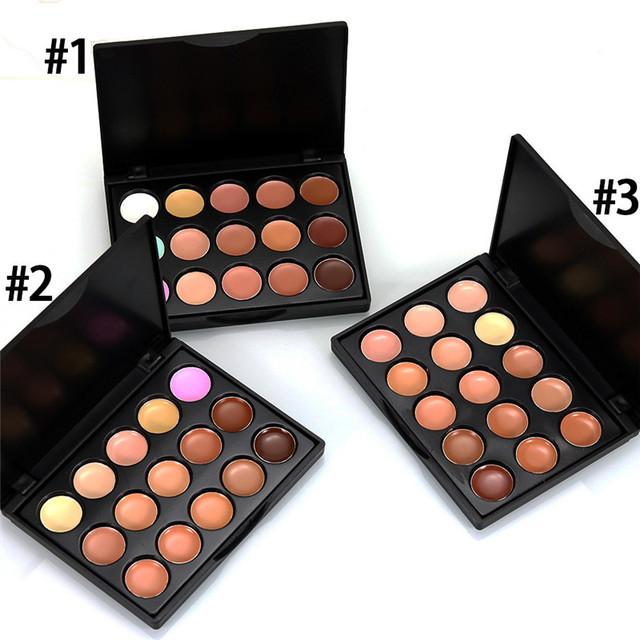 MIni 15 Colors Face Concealer Camouflage Cream Contour Palette maquillaje profesional foundation paleta  Concealer #52420