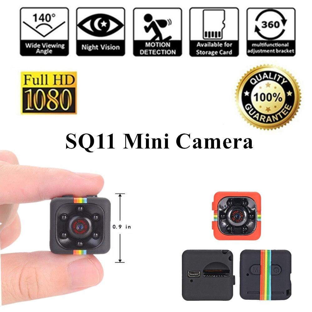 Mini Macchina Fotografica SQ11 HD 1080 P Video Cam Micro Motion Detection micro Videocamera A Raggi Infrarossi di Visione Notturna Registratore minicamera SQ 11