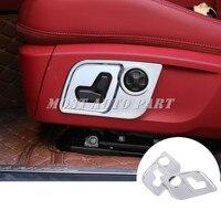 Interior Car Seat Button Frame Cover 2pcs For Maserati Quattroporte 2013 2018