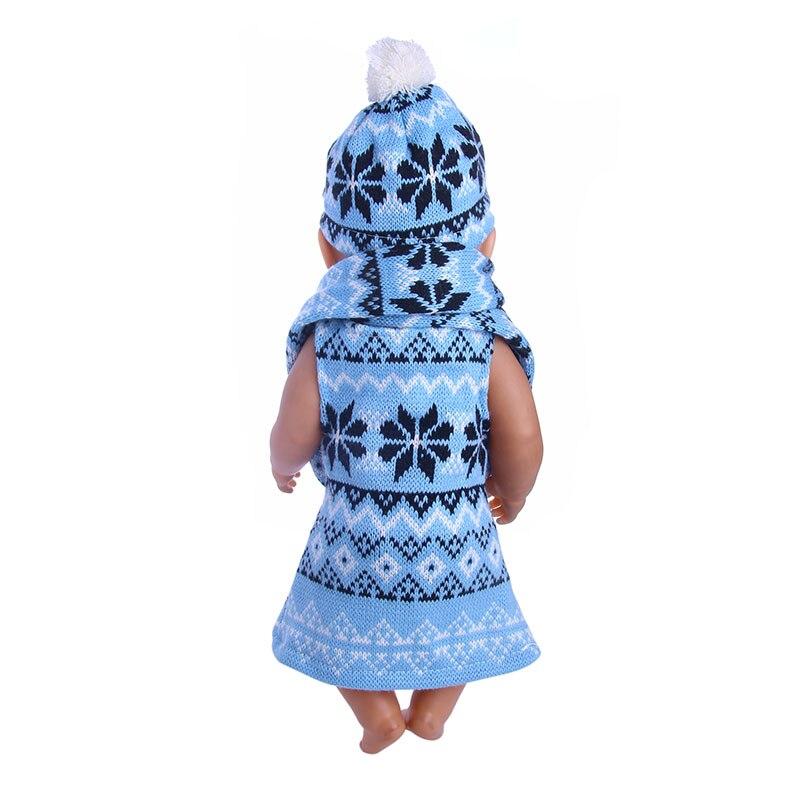 881df65cd3 Aranyos kék pulóver háromrészes öltöny 18 hüvelykes amerikai lány ...