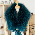 ZDFURS * hot sale high quality raccoon fur collar Wedding bride fur cape raccoon fur scarf raccoon fur cape shawl  warps