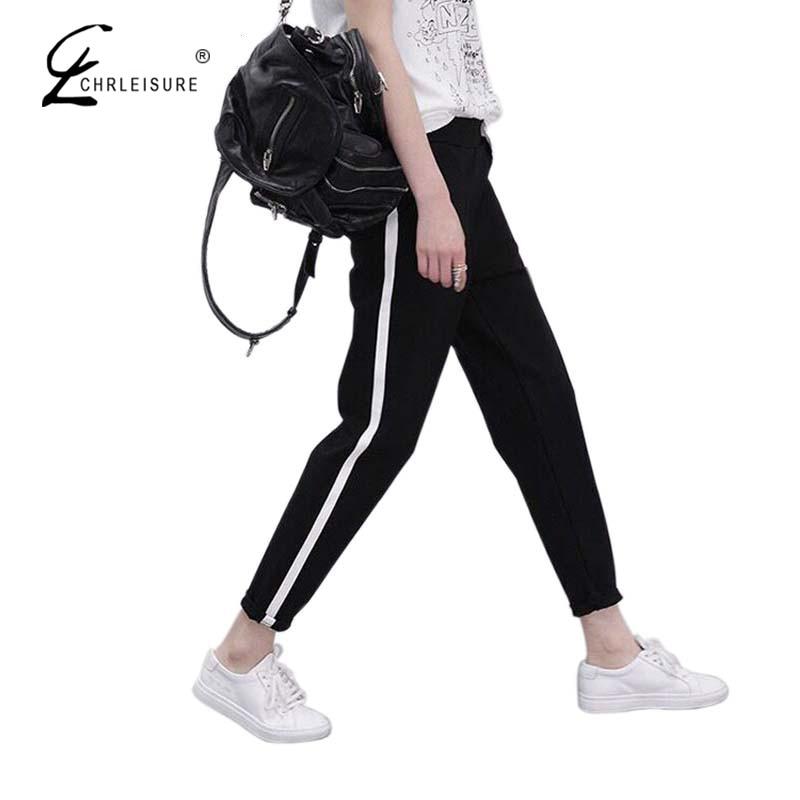 CHRLEISURE S-XXL női harem nadrág csipke fel nadrág alkalmi laza rugalmas női nadrág nadrág női  t