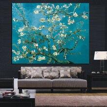 Настенный Холст Искусство Ван Гог цветущее миндаль дерево импрессионист картина маслом плакат и печать цветок Настенная картина для гостиной
