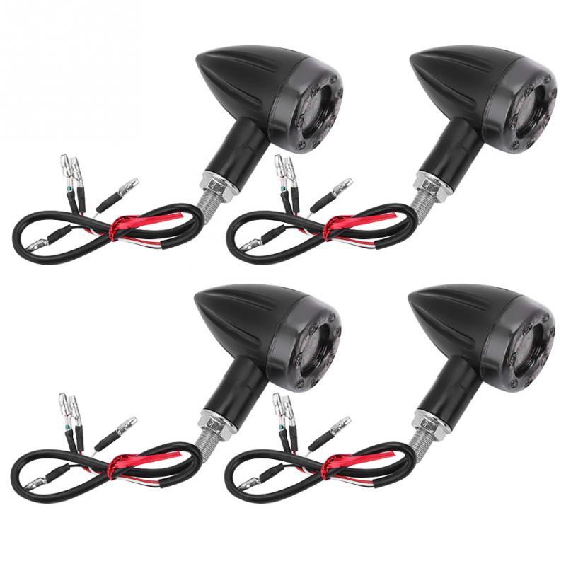 4Pcs Cool Motorcycle Universal Flash Indicator Turn Signal Light Cornering Rear Lamp Brake Lights Motorcycle Turn