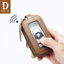 DIDE Genuine Leather Car Key Wallets Men Small Coin Purse Wallet women Keys Organizer Keychain Cover Case Vintage