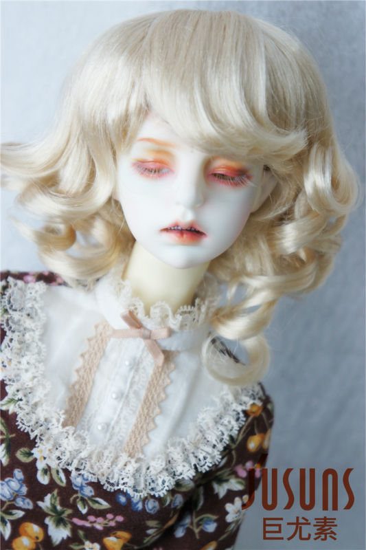 1/3 Synthetic mohair BJD doll wigs, Short curly doll wig SD doll accessories JD164