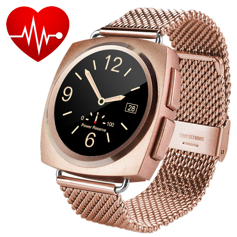 New Elegance Metal Bluetooth Smart Watches Heart Rate Tracker MTK2502C font b Smartwatch b font Heart