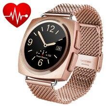 New Elegance Metall Bluetooth Smart Uhren Herzfrequenz Tracker MTK2502C Smartwatch Herz Rythme Intelligenz Uhr Für Frauen Dame