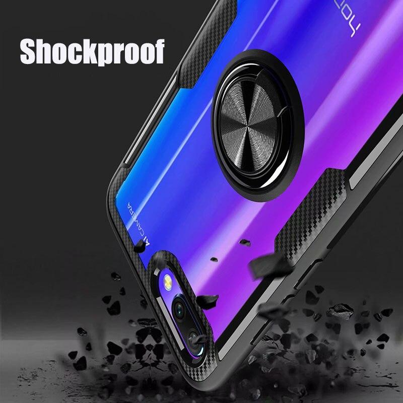 HTB1bBQjX6DuK1Rjy1zjq6zraFXa6 Finger Ring Kickstand Case for Huawei Honor 10 7X Play TPU Bumper Car Magnetic Acrylic Case PC Hard Cover for Honor 7X 10 Coque