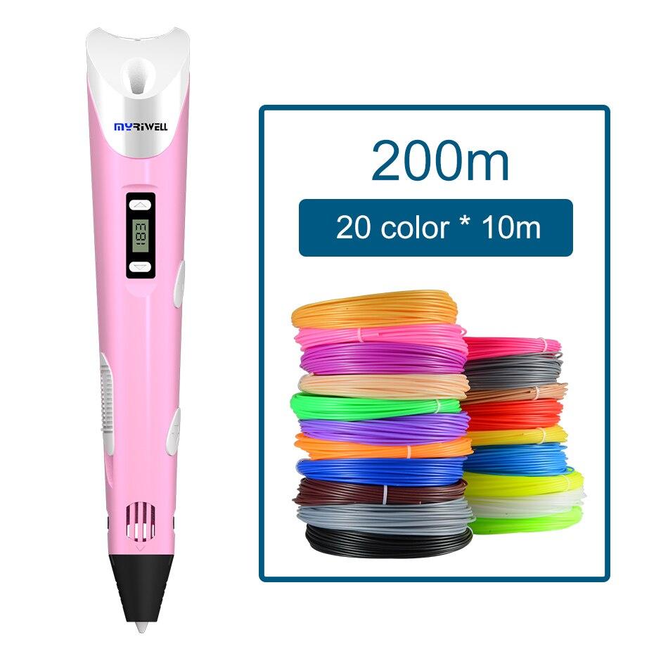 Myriwell 3D Penna FAI DA TE 3D Stampante Penna Disegno A Penna Penne 3d Stampa Best per I Bambini con 200 m ABS Filamento 1.75mm Di Natale regalo Di Compleanno