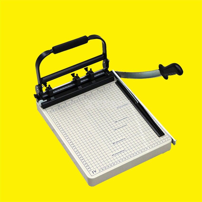 DK-04 multifonctionnel A4 taille manuelle Machine de découpe de papier bureau à domicile Cutter avec outil de découpe de papier de fonction de poinçonnage de 3 trous