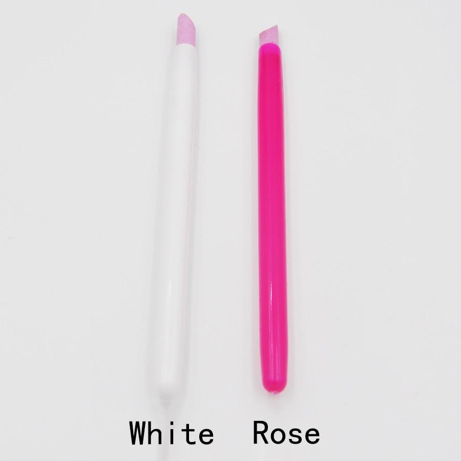 1 Piece White Cuticle Pusher Nail Art Stick Pen Pedicure Manicures ...