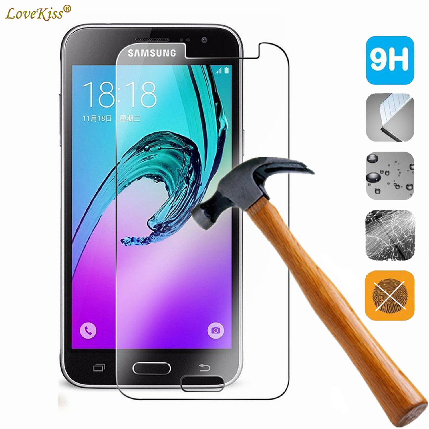 For Samsung Galaxy J3 2016 J320F J310F J300 SM-J320F J320 Screen Protector 9H Tempered Glass Film J3 2016 Protective Case Cover