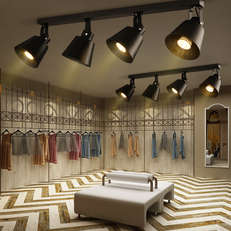 Lighting In Interior Design Creative: Retro Personality Track LED Spotlight Modern Creative