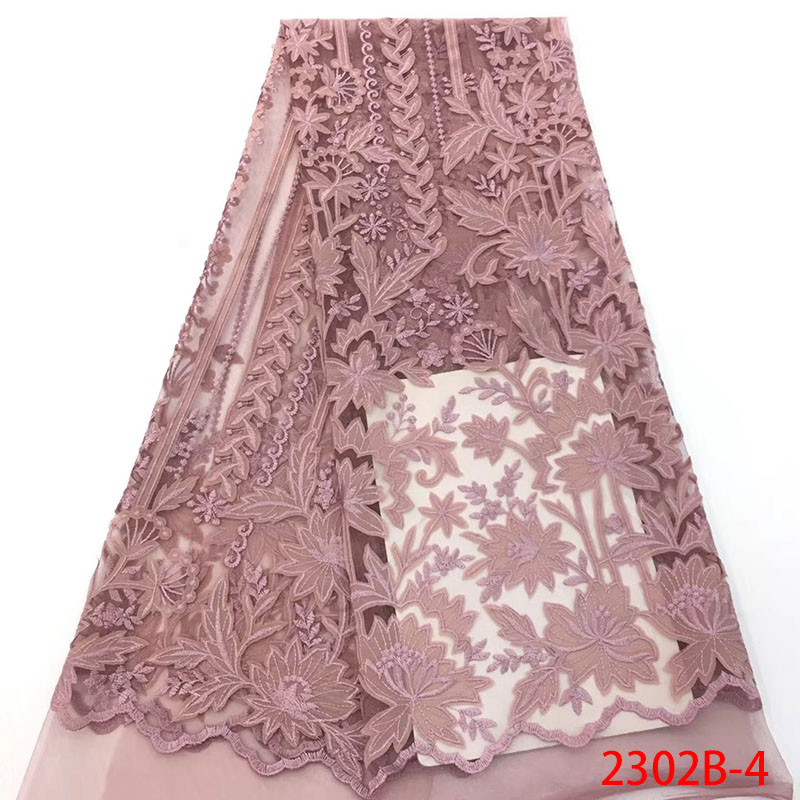 2018 Latest Guipure Lace Onion Nigerian Embroidered Tulle Fabric High Quality African Lace Fabric For Dress
