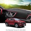 Силиконовый анти-Солнцезащитный коврик для приборной панели автомобиля защитная площадка Крышка для Hyundai Tucson 2015-2018 LHD & RHD автомобильные акс...