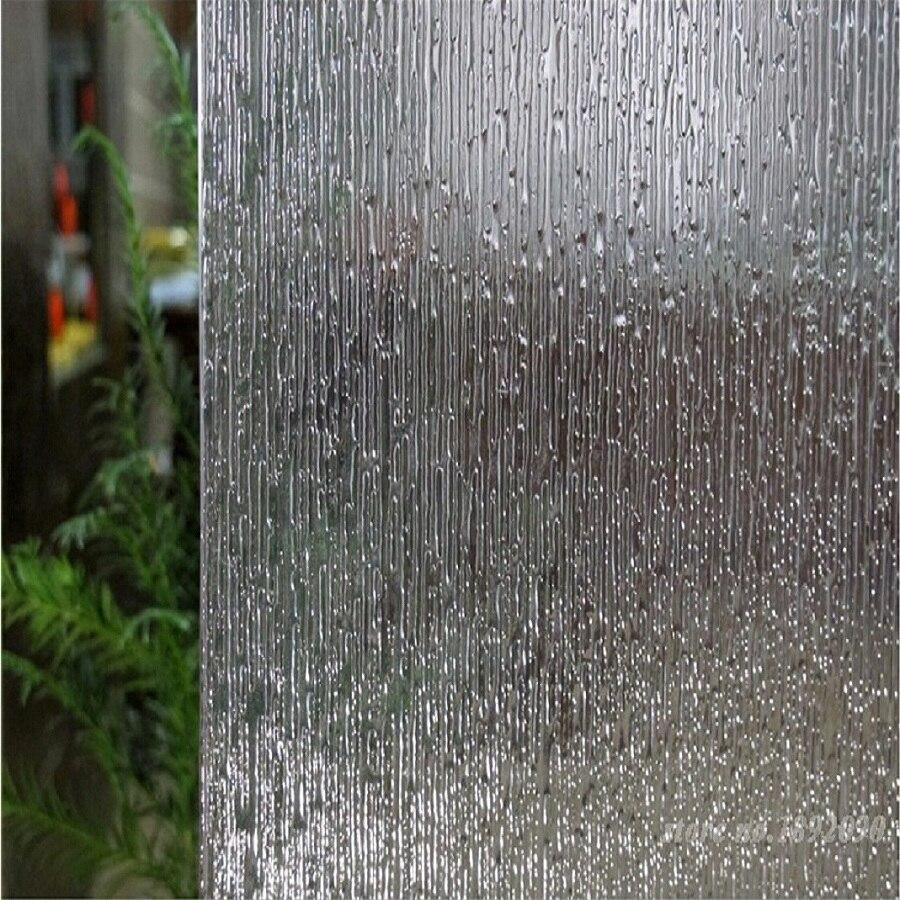3 pièces 45*145 cm pas de colle Opaque intimité décorative verre fenêtre Film statique s'accrochent autocollant de fenêtre autocollant baiser la pluie