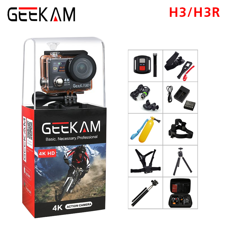 Unterhaltungselektronik Bescheiden Geekam H3/h3r Action Kamera 4 Karat Wifi Ultra Hd 170d Gehen 30 Mt Wasserdichte Mini Cam Pro Doppel Bildschirm Schwimmen Sport Kamera Hero 4 Stil Sport & Action-videokameras
