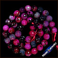 "8mm High Gloss Faceted Black Magenta Druzy Agate Round Natural Stone Loose Beads Strand 15"" For Jewelry Making Diy Bracelet"