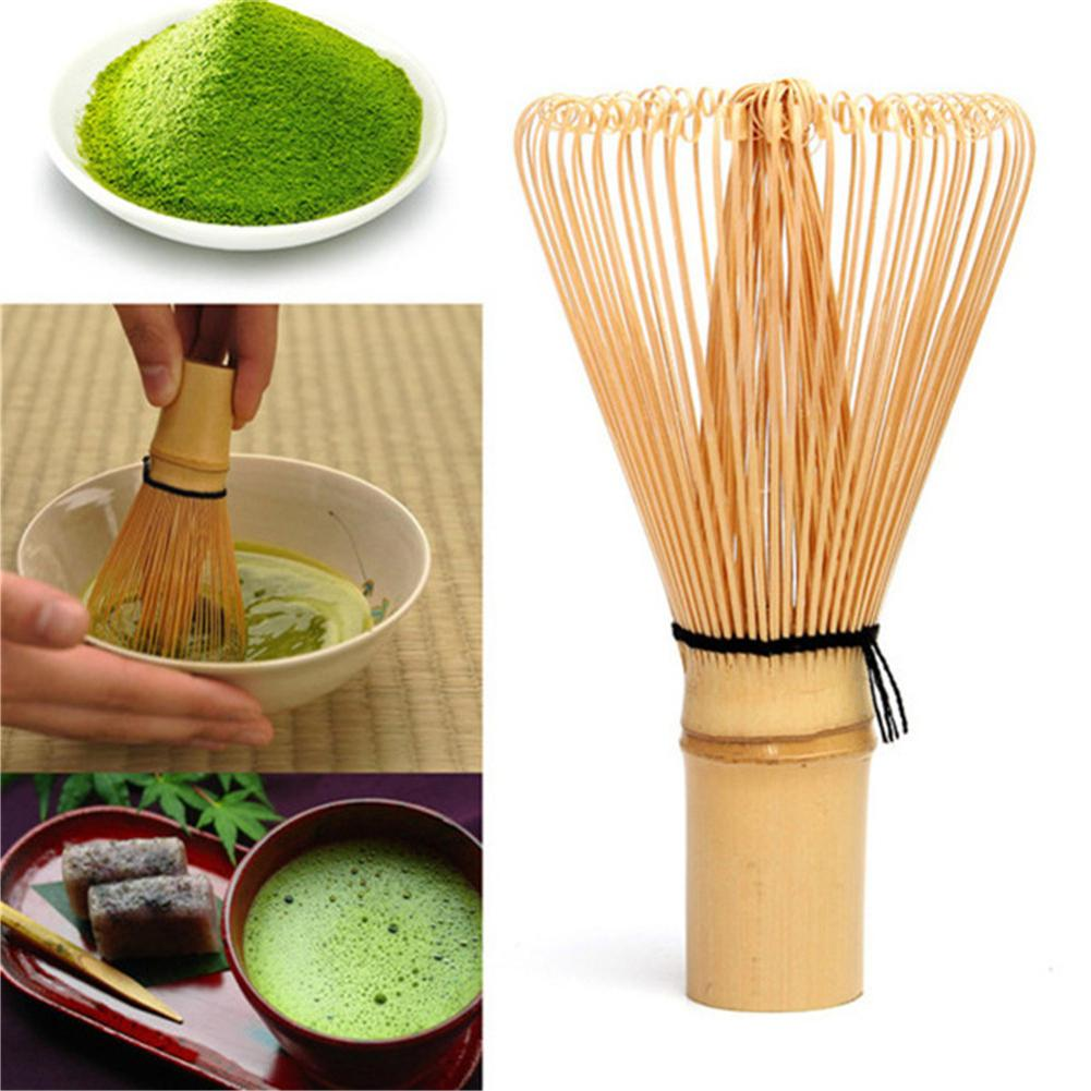 10x5.5cm Bamboo Matcha Whisk Japanese Brush Professional Green Tea Powder Whisk Chasen Tea Ceremony Brush Tool Grinder Kitchen