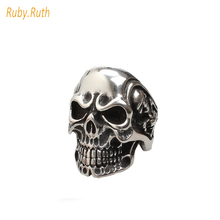 2017 NEW Man USA Skull Ring for Man Punk Style Factory Stainless Steel Men Jewelry