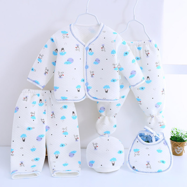 f67dea332c15 Aliexpress.com   Buy 5pcs set Newborn baby girl clothes 100% cotton ...