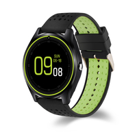 V9 Bluetooth Inteligente Reloj V9 tarjeta Micro SIM 2G Con cámara Podómetro Salud Sport MP3 music Reloj Smartwatch Para Android apoyo