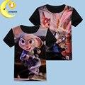 Новое лето детские футболки для девочек хлопок короткий рукав zootopia футболки мультфильм дети мальчики одежда дети топы девушки одежда