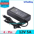 1pcs AC DC 12V 5A 4 Pin Power Adapter Supply 60W Switch 4-Pin For LCD TV Monitor Laptop Battery Charger With IC Chip