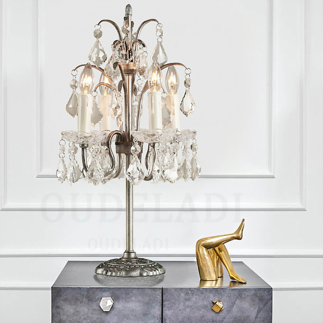 En soldes E27 moderne américain luxe bougies cristal lampes ...