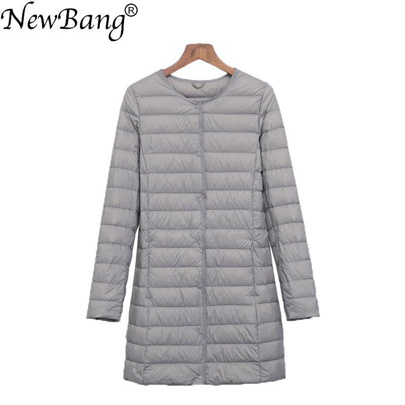 NewBang Brand Ultra Light Down Jacket Women Long Duck Down Jacket Female Lightweight Warm Linner Slim Portable Ladies Coats