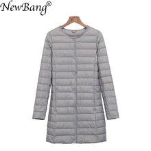 NewBang Brand Ultra Light Down jacket Women Long Duck