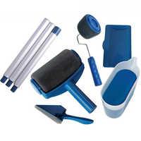 Farbe Runner Pro Roller Pinsel Griff Werkzeug Edger Zimmer Wand Malerei Home Garten Werkzeug Roller Pinsel Set + Verlängerung pol