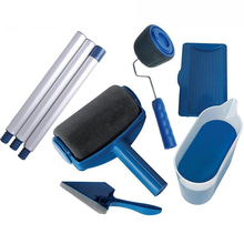 Paint Runner Pro Roller Brush Handle Tool Edger Room Wall Painting Home Garden Set + Extension Pole