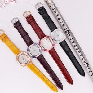 Image 5 - Роскошные женские часы с перламутровыми стразами, японские кварцевые часы, модные часы с кристаллами из натуральной кожи, подарок на день рождения, коробка Melissa