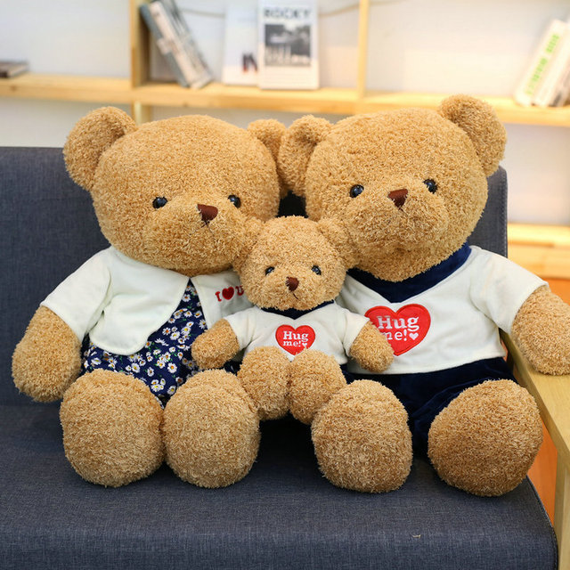 38 70cm Cute Lovers Bear Plush Toys Valentineu0027s Day Bear Doll Stuffed  Animals PP Cotton