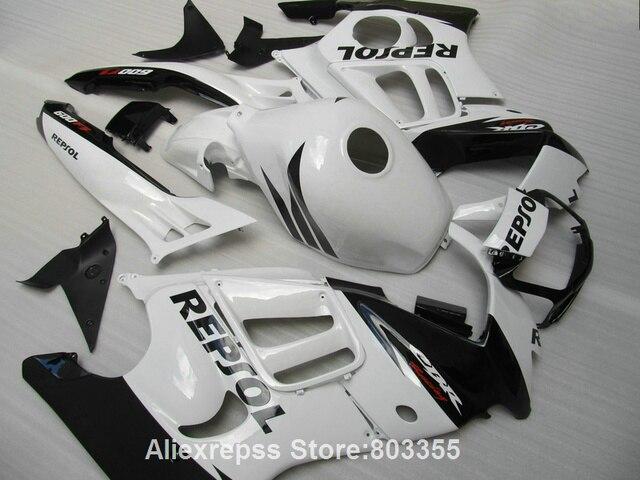 Moto Fairing kit for HONDA CBR600 F3 95 96 cbr 600 ( White black ) fairings 1995 1996 xl12