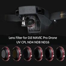 UV ND4 ND8 ND16 CPL фильтр для объектива для DJI Mavic Pro Platinum камера Дрон поляризационный фильтр нейтральной плотности с защитным чехлом