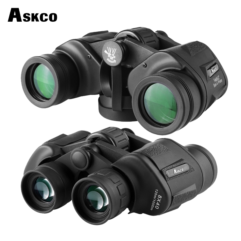 Askco new arrival 8X40 HD waterproof binoculars telescope hunting bak4 telescope tourism optical outdoor sports eyepiece high times fmc 20x35 hd waterproof portable binoculars telescope hunting telescope tourism optical outdoor sports eyepiece