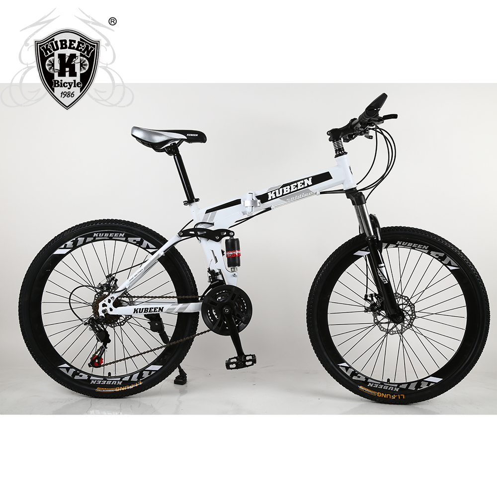 KUBEEN 26inch folding mountain bike 21 speed double damping bicycle double disc brakes mountain bike KUBEEN 26inch folding mountain bike 21 speed double damping bicycle double disc brakes mountain bike
