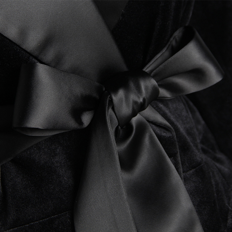 Coréenne Vintage Style Femmes Tempérament Manteau Arrivée Confortable Mince Travail Épais Solide Mode Extérieure Noir Veste Élégant Nouvelle Ax84Bw