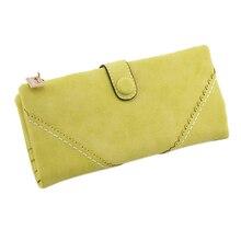 Wholesale5*Long Women Wallet Messenger bags Handbag Retro Dull Polish Purse Multifunctional-yellow